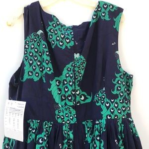 Modcloth Dresses - ModCloth x Dupenny Fit & Flare Peacock Dress NWT